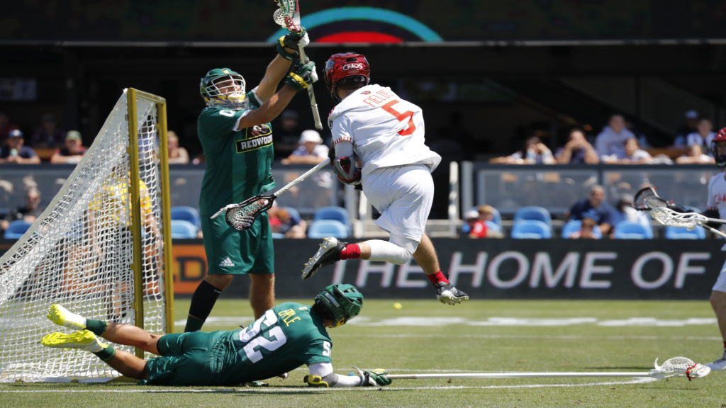 ... during a Premier Lacrosse League game on Saturday, August 10, 2019 in San Jose, Calif. (Jim Gensheimer/AP Images for Premier Lacrosse League)